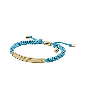 Michael Kors gold-plated turquoise cord friendship bracelet - Product number 2051214