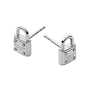 Michael Kors silver tone padlock stud earrings - Product number 2051265