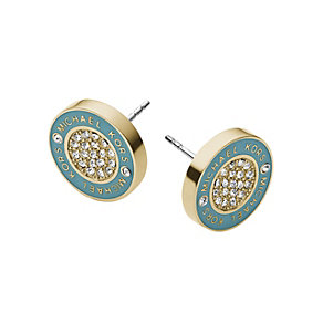 Michael Kors pave stone-set teal gold-plated stud earrings - Product number 2051281