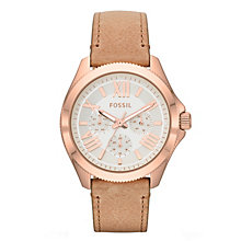 Fossil Cecile ladies' multi dial sand leather strap watch - Product number 2051362
