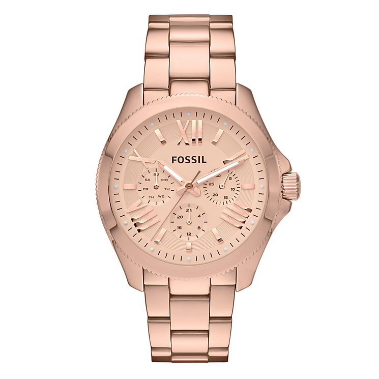 Fossil Cecile ladies' rose gold-tone bracelet watch - Product number 2051397