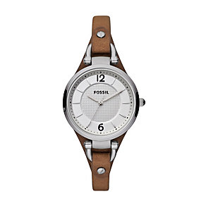 Fossil Georgia ladies' brown leather strap watch - Product number 2051435