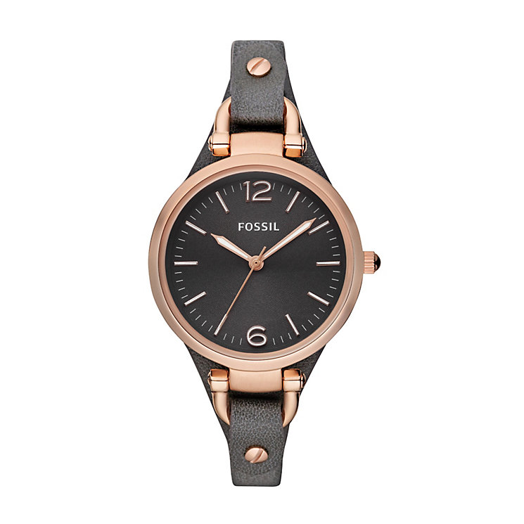 Fossil Georgia ladies' leather strap watch - Product number 2051451