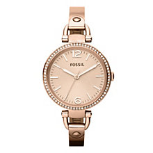 Fossil Georgia Glitz ladies' rose gold-tone bracelet watch - Product number 2051508