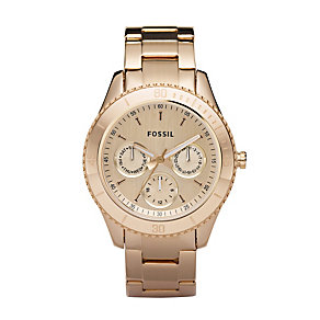 Fossil Stella ladies' rose gold-plated bracelet watch - Product number 2051567
