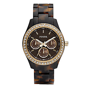 Fossil Stella ladies' tortoiseshell effect bracelet watch - Product number 2051583