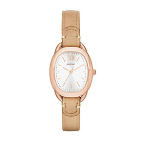 Fossil Sculptor ladies' beige leather strap watch - Product number 2051958