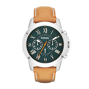 Fossil Grant tan leather strap watch - Product number 2052415