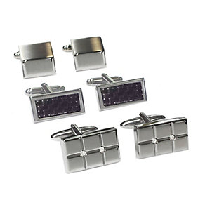 Three Piece Cufflink Set - Product number 2055341