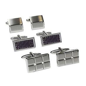 Three Piece Cufflink Set - Product number 2055341