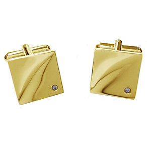 Gold Plated Diamond Cufflinks - Product number 2055406