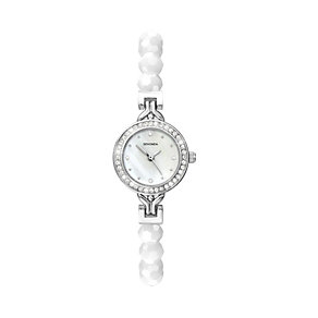 Sekonda Ladies' Stainless Steel White Bead Bracelet Watch - Product number 2064049