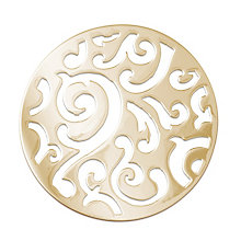 Lucet Mundi gold-plated circle scroll coin - large - Product number 2064189