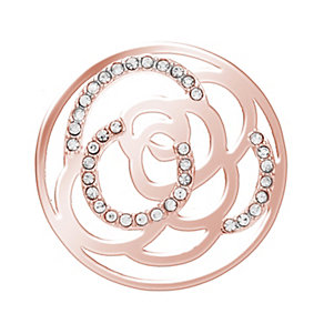 Lucet Mundi rose gold-plated stone set rose coin - small - Product number 2064324