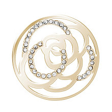 Lucet Mundi gold-plated rose crystal coin - small - Product number 2064367