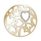 Lucet Mundi gold-plated love heart crystal coin - small - Product number 2064375