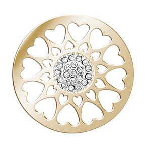 Lucet Mundi gold-plated circle love heart coin - small - Product number 2064391