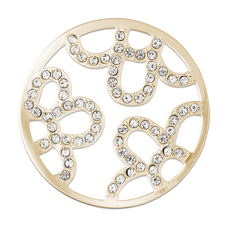 Lucet Mundi gold-plated floral crystal coin - small - Product number 2064413