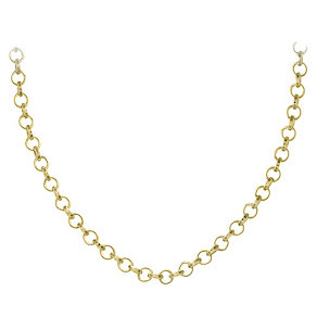 """Lucet Mundi 30"""" yellow gold-plated loop chain - Product number 2064529"""