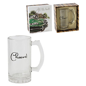 Cheers' Glass Tankard Boxed Gift Set - Product number 2069202