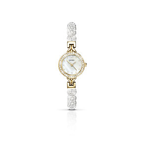 Sekonda Crystalla gold-plated white crystal bracelet watch - Product number 2076675