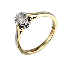 9ct Two Colour Gold Quarter Carat Diamond Ring - Product number 2080613