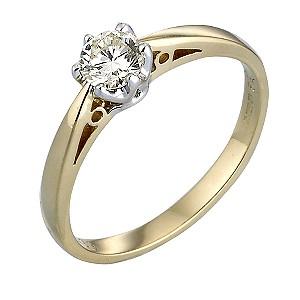 18ct Gold Third Carat Diamond Solitaire Ring