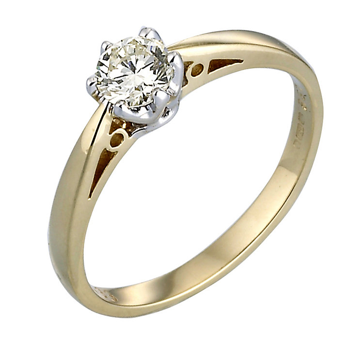 H Samnuel Diamond Solitaire Ring