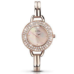 Sekonda Crystalla Ladies' Rose Gold-Plated Bracelet Watch - Product number 2083477