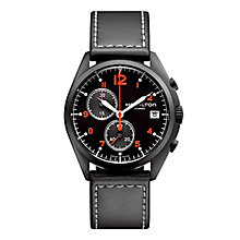 Hamilton men's ion-plated chronograph strap watch - Product number 2086336