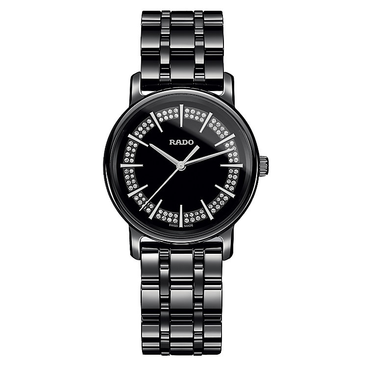 Rado Diamaster ladies' black ceramic bracelet watch - Product number 2087626