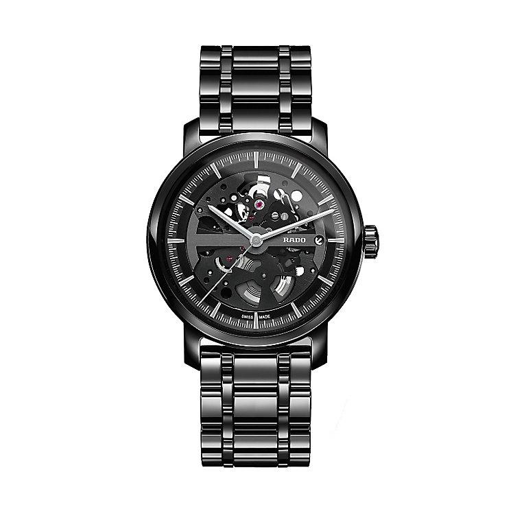 Rado men's black bracelet watch with skeleton dial - Product number 2087634