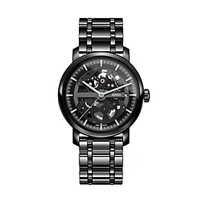 Rado men's black bracelet watch with skeleton dial - Product number 2087634