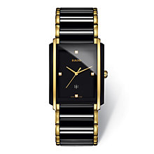 Rado men's black ceramic & gold plate bracelet watch - Product number 2087669