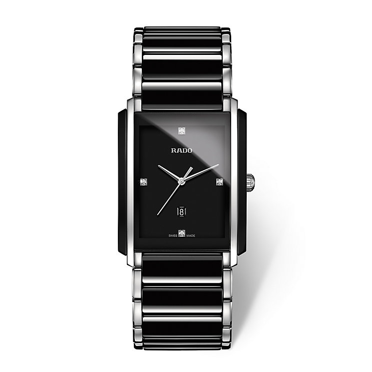 Rado men's stainless steel & black ceramic bracelet watch - Product number 2087677