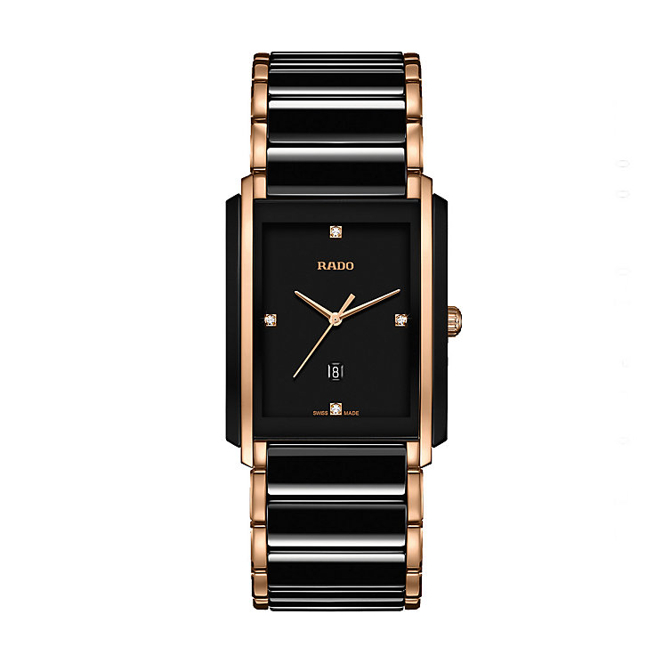 Rado men's black ceramic & rose gold-plated bracelet watch - Product number 2087839