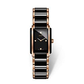 Rado ladies' black ceramic & rose gold plate bracelet watch - Product number 2087855