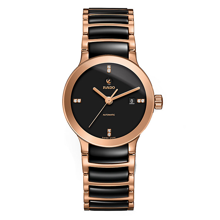 Rado ladies' automatic black ceramic bracelet watch - Product number 2088177