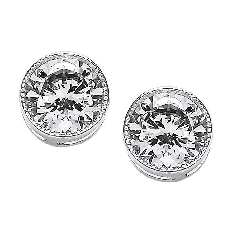 Attwood & Sawyer by Buckely Round Milgrain Stud Earrings - Product number 2118688