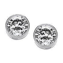 Attwood & Sawyer By Buckley Round Milgrain Stud Earrings - Product number 2118688
