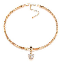 Buckley Gold Plated Stone Set Heart Necklace - Product number 2118696