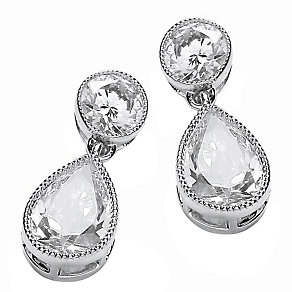 Attwood & Sawyer By Buckley Drop Cubic Zirconia Earrings - Product number 2118874