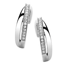 Attwood & Sawyer By Buckley Crystal Crossover Hoop Earrings - Product number 2118947