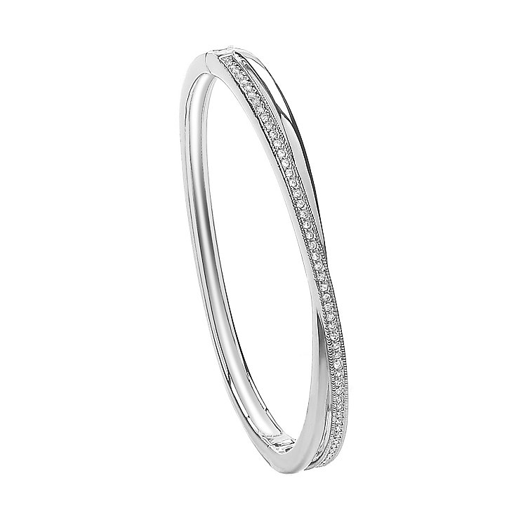 Attwood & Sawyer By Buckley Crossover Crystal Bangle - Product number 2119161