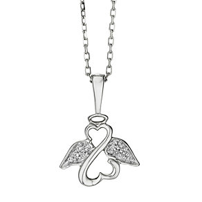 Open Hearts Angels By Jane Seymour 9ct White Gold Pendant - Product number 2147998