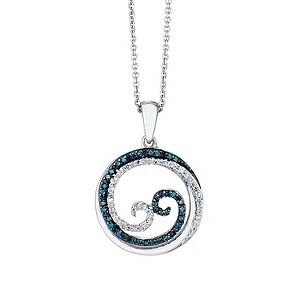 open hearts waves by jane seymour silver diamond pendant. Black Bedroom Furniture Sets. Home Design Ideas