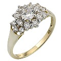 9ct Gold Cubic Zirconia Ring - Product number 2149001
