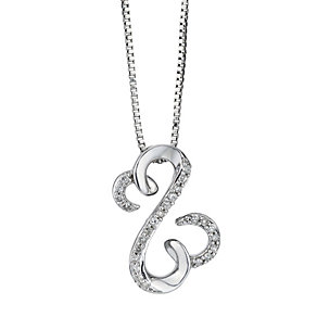 Open Hearts By Jane Seymour Silver Diamond Pendant - Product number 2155141