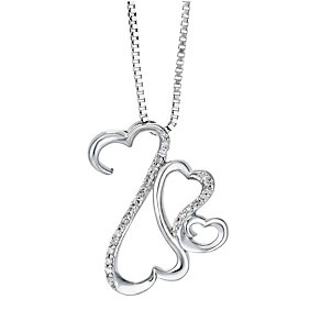Open Hearts Family By Jane Seymour Silver Diamond Pendant - Product number 2158108