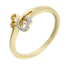 Open Hearts By Jane Seymour 9ct Yellow Gold Diamond Ring - Product number 2159562